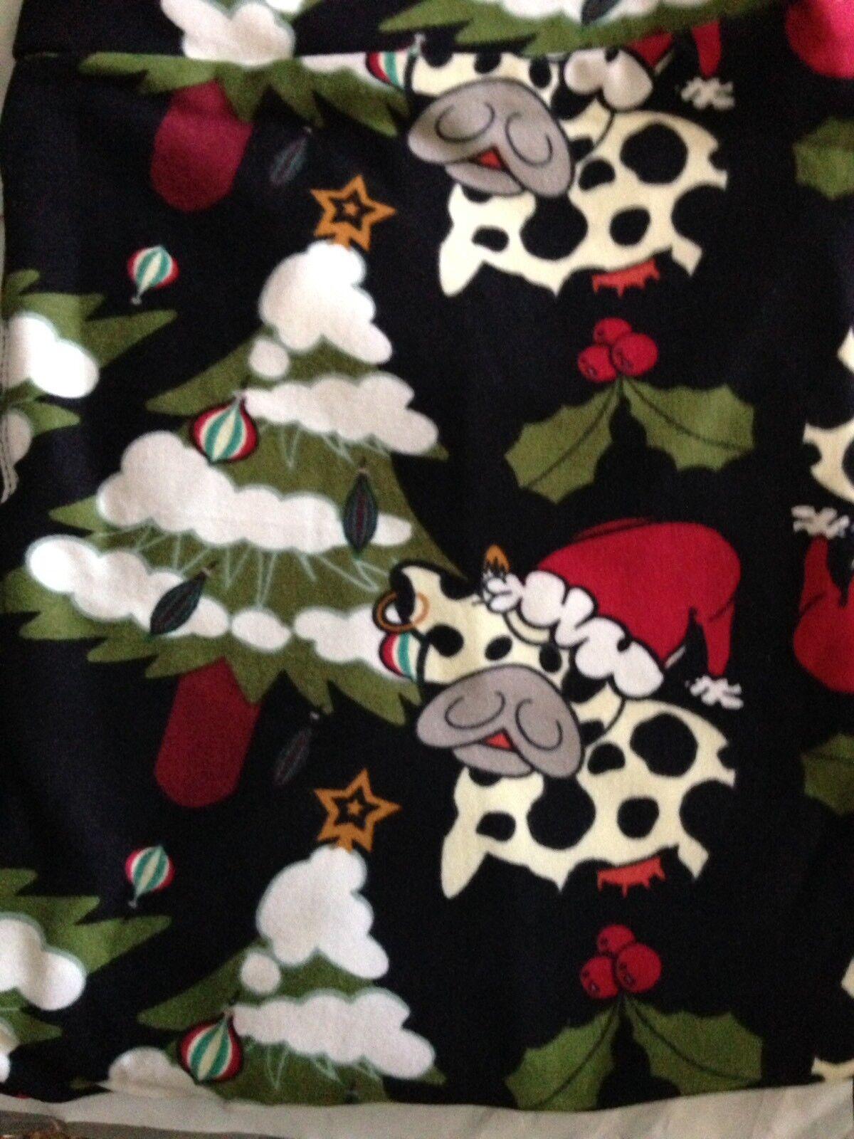 e6fa91d1c3cedc Lularoe leggings OS Vintage Major Christmas Unicorn NWT COWS nbrtie5874- Leggings