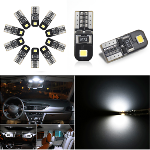 10PCS-Canbus-2825-T10-168-194-W5W-Dome-License-Side-Marker-LED-Light-Bulb-5W