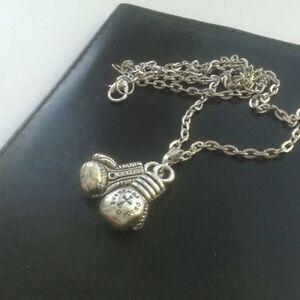 boxing glove pendant necklace keychain charm jewelry muai