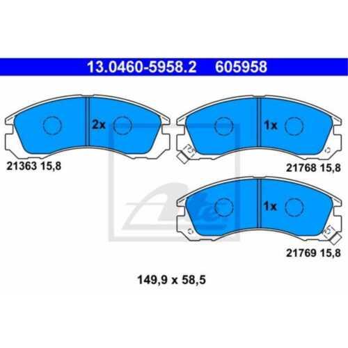 ATE Bremsbeläge 13.0460-5958.2 Bremsklötze Mitsubishi Outlander III GG/_W GF/_W
