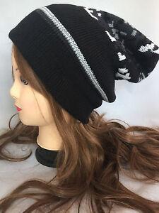 Unisex Women men Winter Warm Knit Oversize Beanie Slouchy Thick Ski Cap Hat c9b00b0997a4