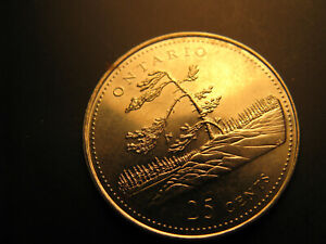 Canada-1992-Ontario-Province-Commemorative-25-Cent-Mint-Coin