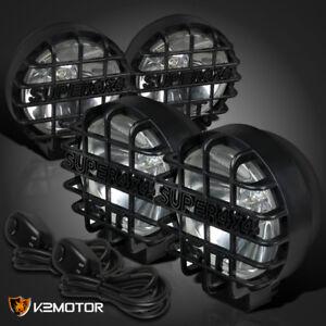 4x round 6 black truck off road super 4x4 work fog lights wiring rh ebay com