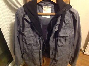 Burton-hoodie-grey-jacket-medium-pit-to-pit-52cms
