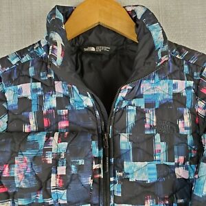 NWT-THE-NORTH-FACE-Size-XS-Womens-Thermoball-Glitch-Print-Jacket-Coat-New-199