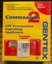Gentex Commander 2 Wall Mount 24v Signaling Horn Geh24 R Red Free Shipping