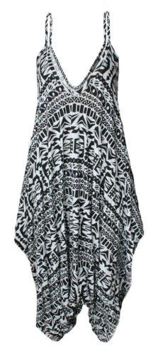 Ladies Cami Lagenlook Romper Drape Baggy Harem Playsuit Jumpsuit Dress Plus Size