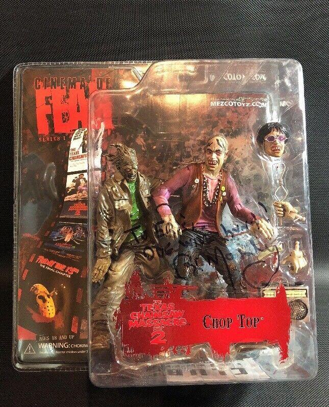 Bill Moseley signé Cinema of fear Chop Top Massacre à la tronçonneuse 2 Figure 8K