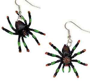 Image is loading Funky-TARANTULA-SPIDER-EARRINGS-Gothic-Cosplay-Halloween- Witch-  sc 1 st  eBay & Funky TARANTULA SPIDER EARRINGS Gothic Cosplay Halloween Witch ...