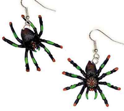 Funky TARANTULA SPIDER EARRINGS Gothic Cosplay Halloween Witch Costume Jewelry