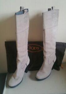 stivali-tod-039-s-donna-beige-ghiaccio-38-stivaletti-tronchetti-scarpe-tacco-tods