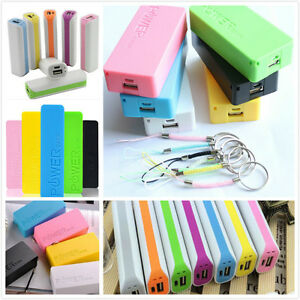 NEW 5600mAh USB 5V Power Bank 18650 Battery Charger Case Box For Mobile Phone 1A