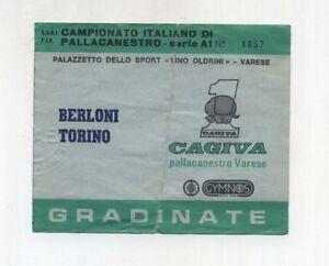 Dettagli su Biglietto Ticket CAGIVA Pallacanestro VARESE CUCINE BERLONI  BASKET TORINO