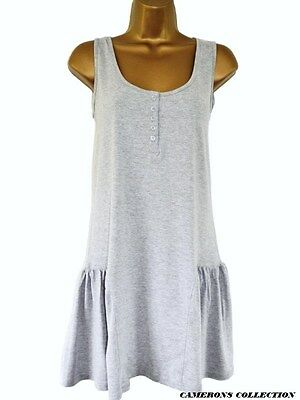 Ladies//Teenager GREY Soft Touch Holiday Beach Cover-Up Dress  szs  12 14 16 18