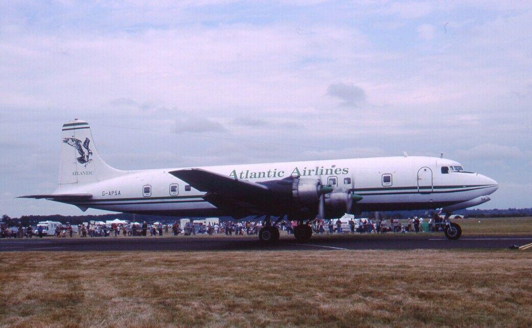 Original 35mm Aircraft slide    G-APSA DOUGLAS DC-6A  NO2