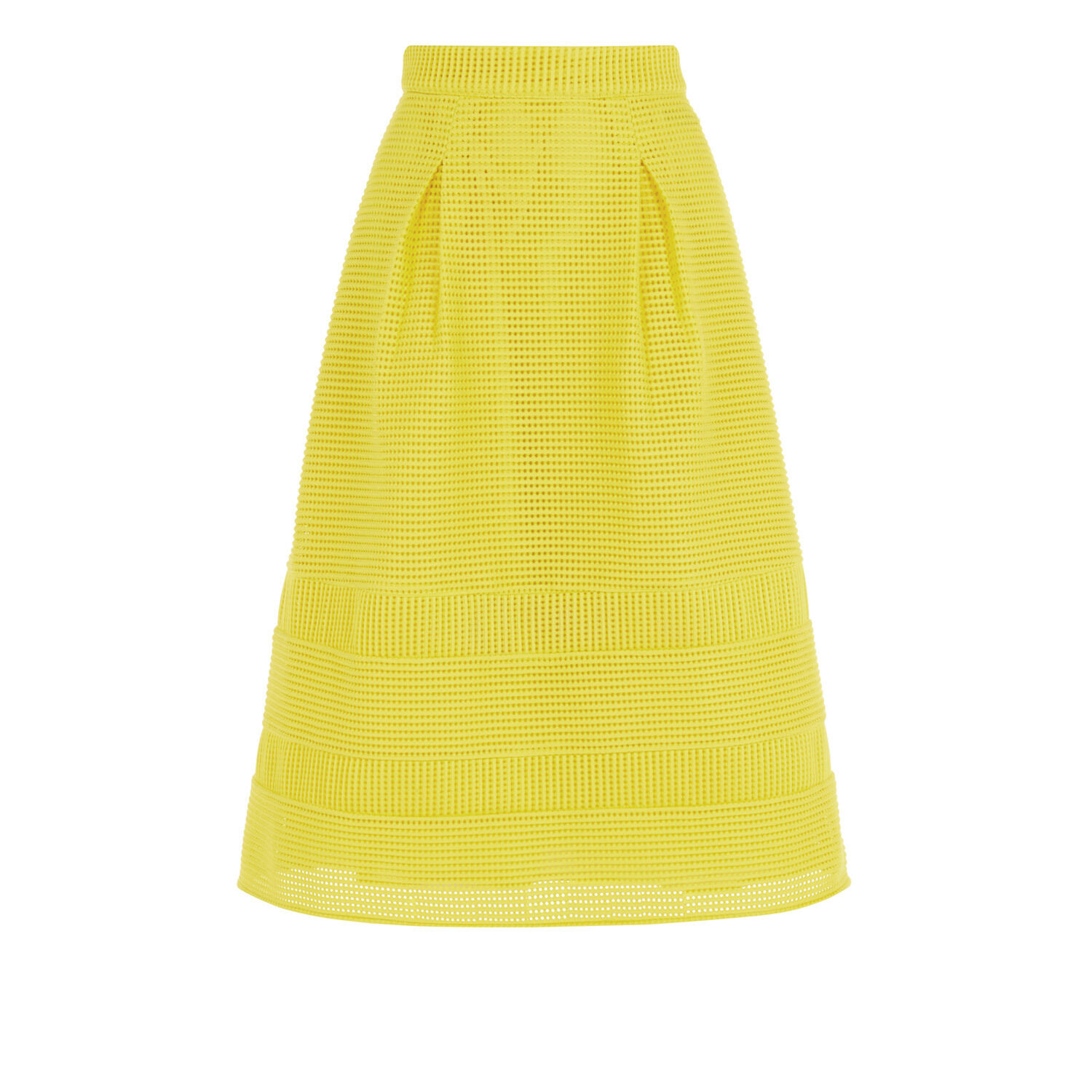 WAREHOUSE Linear Yellow Prom Skirt size 6 - Brand New