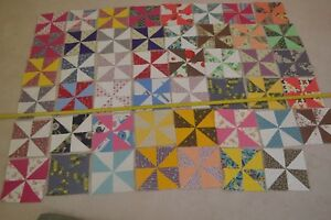 47-Vintage-8-034-x-8-034-Quilt-Squares-Blocks-Machine-Pieced-Ready-to-Finish-M01