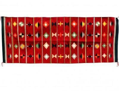 62 X 28 Wanda Yazzie Navajo Handwoven Rug German Town Revival
