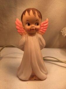 Vtg RARE 1969 Bonnytex Co. Rubber Angel Cherub Working NightLight WATCH OVER US