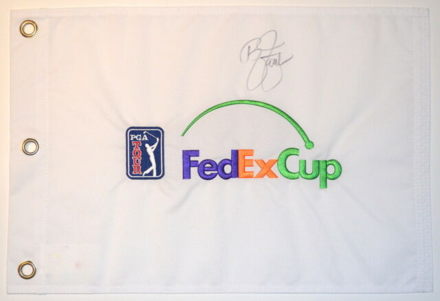 RICKIE FOWLER Signed PGA Logo FEDEX CUP Embroidered GOLF FLAG