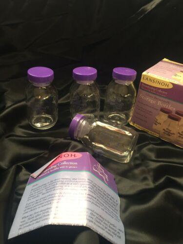 NIB Lansinoh Glass Breastmilk Storage /& Feeding Bottles Use w// Medela Spectra