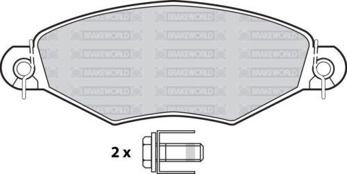OEM SPEC FRONT DISCS AND PADS 247mm FOR PEUGEOT 206 1.9 D 1998-01