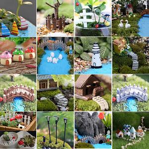 Mini  DIY Dollhouse Fairy Landscape plant Terrarium Figurine Bonsai Garden Decor
