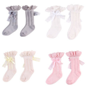 9f4204b680a Baby Girls Toddler Kids Lace Cotton Knee High Socks Stocking Leg ...