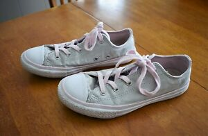 White Converse All Star Shoes - Size
