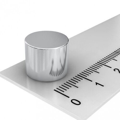 20x NEODYM SCHEIBEN MAGNET POWERMAGNET 12 x 10 mm GRADE N45 VERNICKELT