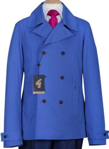 Da Uomo Gabicci BRAND NEW Cobalt Blue Coat Cappotti Giacca REEFER Stile S M L XL XXL