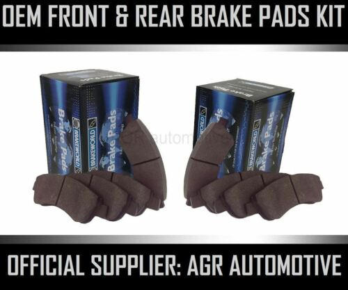 OEM SPEC FRONT AND REAR PADS FOR PEUGEOT 406 2.0 TD 110 BHP 1999-04