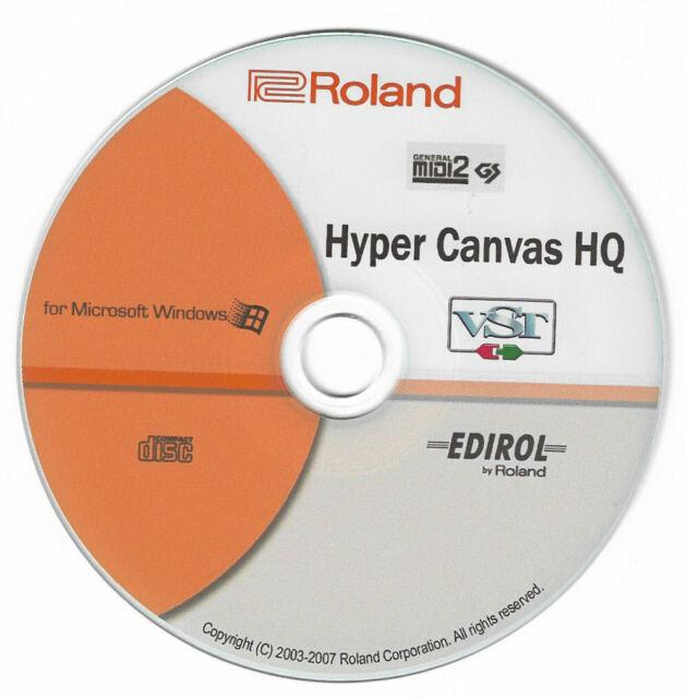 Roland Edirol Hyper Canvas HQ Virtual Software Synthesizer VST Plug-in Windows
