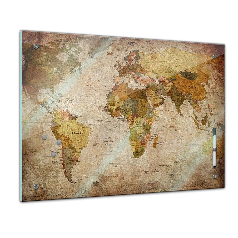 MEMO Board-mappa del mondo retrò