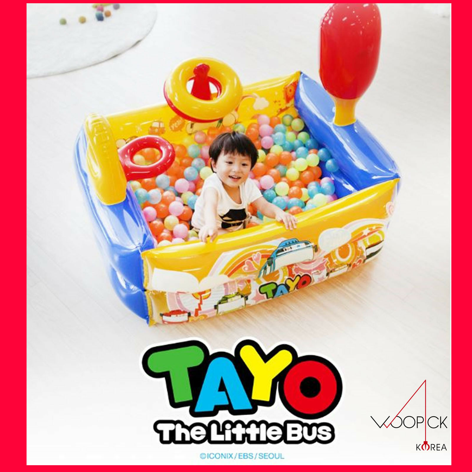 TAYO Multi AIRGYM Air Gym Ball Pit Pool Indoor Outdoor Kids Play Game+100 Ball