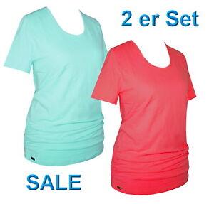 2er Set Schneider Sportswear Damen Longshirt Shirt T-Shirt 2 Stück Gr. 38/40 - M