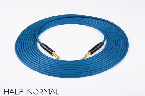 "20/' Mogami 2549 Standard Balanced Cable Neutrik Gold 1//4/"" TRS to 1//4/"" TRS Blue"