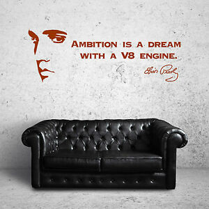 ELVIS-PRESLEY-QUOTE-wall-art-vinyl-sticker-room-decal-AMBITION-IS-A-DREAM