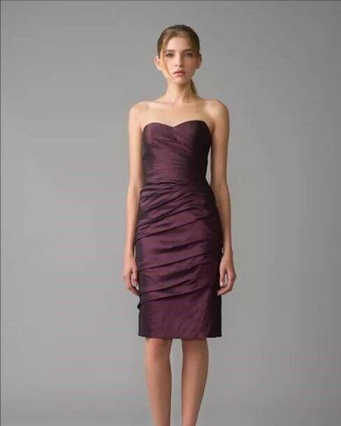 Monique Ihuillier Bridesmaid dress Strapless Aubergine Größe 10 style