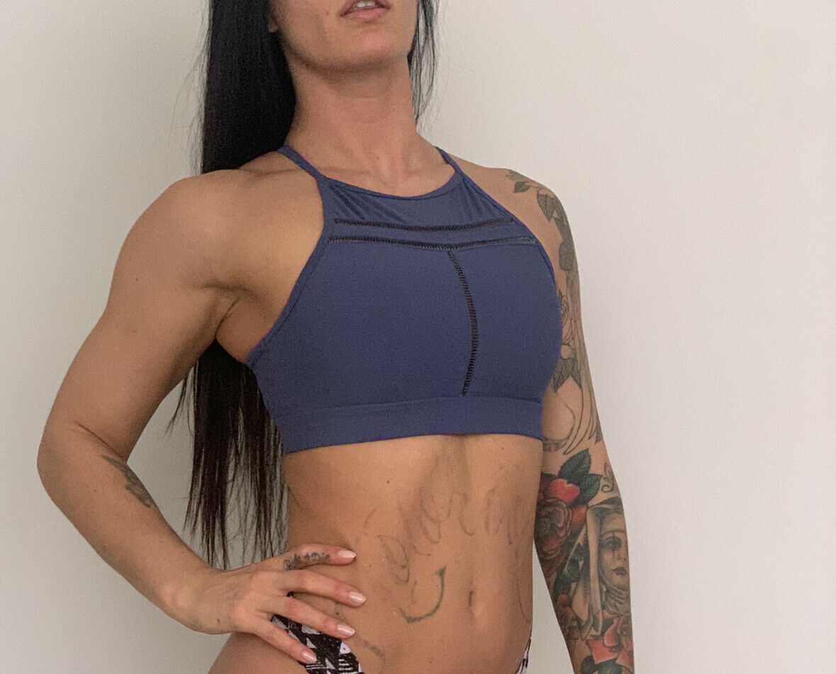 Soul by SoulCycle Ladder Bra INDIGO BLUE - Size Small