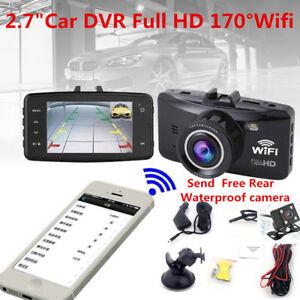 Car-DVR-2-7-034-Full-HD-170-Wifi-Dual-Lens-Camera-Dash-Video-Recorder-G-Sensor-UK-S