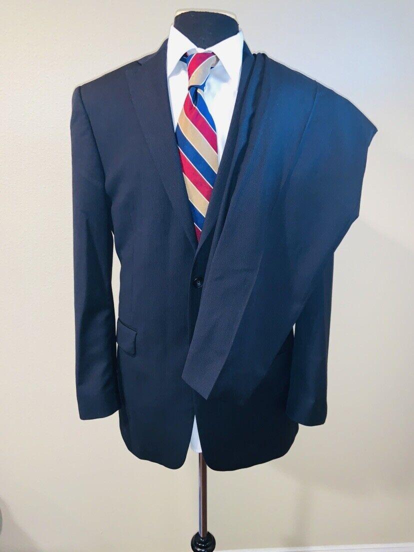 Superb Hart Schaffner Marx New York bluee On bluee Suit Sz 42 34X31.5