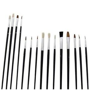12 PC ARTISTS PAINT BRUSH SET FINE HOBBIES CRAFTS MODEL MAKING BRUSHES KIT