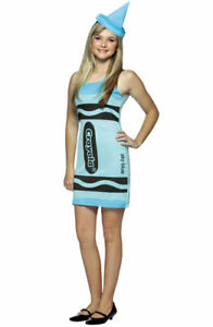 Captivating Details About Crayola Sky Blue Tank Dress Teen Halloween Costume