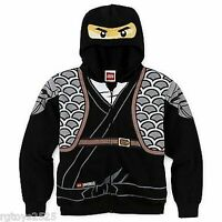 Ninjago Hoodie Jacket Hoodie Size 14-16 Xl Lego Childs Black Ninja Cole