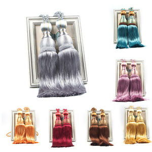 Large-Tie-Backs-Prism-Ball-Tassel-Curtain-Rope-Tieback-Window-Drapery-Holdback
