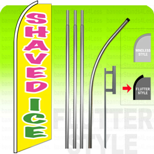 yb Swooper Flag KIT Feather Banner Sign 15/' Tall Flutter Style SHAVED ICE