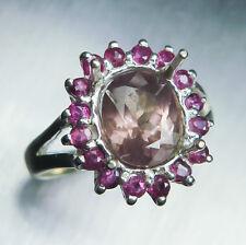 Natural Colour change malaya Garnet Spessartines Pyrope 925 Sterling silver ring