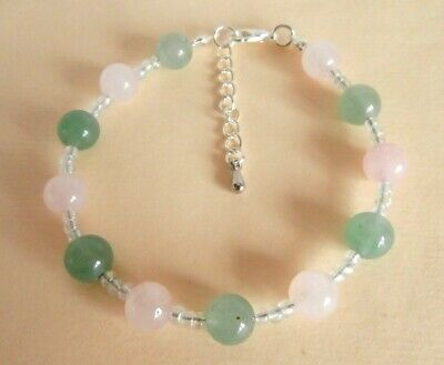 Gemstone Crystal Healing Skin Conditions Eczema Acne Hives Allergies Bracelet