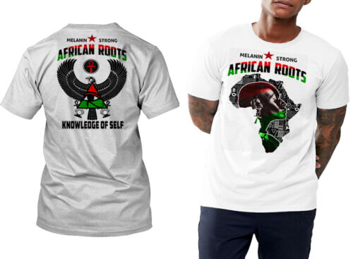 Huey P Newton MLK black history month African Roots t-shirt Africa map